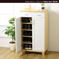 Slim Shoe Cabinet Interiorworks Rakuten Global Market With Drawer Shoe Box U0027wink