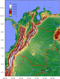 Colombian Map Cordilleras Eyes On Colombia