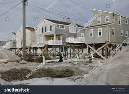 long beach islandnjnovember 1 houses destroyed stock photo