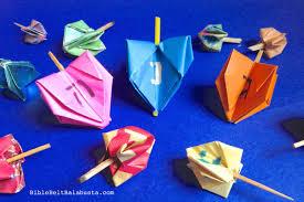 spinning origami dreidel bible belt balabusta