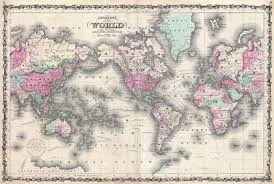 Maps Of The World by File 1862 Johnson Map Of The World On Mercator Projection