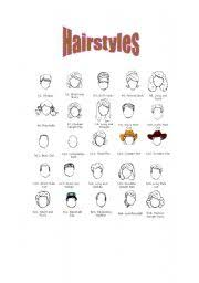 Hair Style Esl | english teaching worksheets hairstyles vocabulary