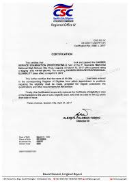 Special Power Of Attorney Philippine Embassy by Civil Service Exam Ph Issuance Of Civil Service Certificate Of