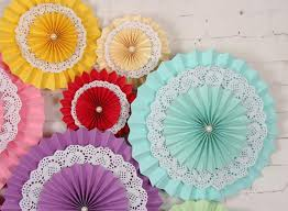 wedding paper fans aliexpress buy 15cm 1pc tissue paper fan decorative flowers