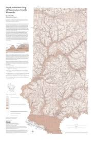 County Map Wisconsin by Wisconsin Geological U0026 Natural History Survey Depth To Bedrock
