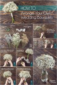 Fake Baby S Breath How To Arrange Your Own Wedding Bouquets Smartyhadaparty Com