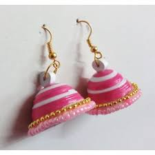 handmade paper earrings shivangi handmade paper quilling jhumka fancy earrings handcrafted