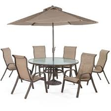 Sunset Bay Outdoor Patio Furniture  Piece Dining Set - 7 piece outdoor dining set with round table