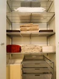 how to organize bathroom closet with deep shelves home design ideas