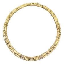 collar diamond necklace images Bulgari diamond gold parentesi necklace at 1stdibs jpg