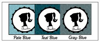 snippets design shades blue barbie party printables