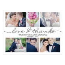 wedding photo thank you cards wedding thank you postcards zazzle