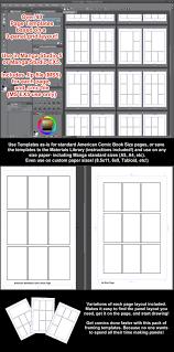 manga studio 5 page templates 9 panel grid variations