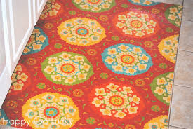 ballard designs kitchen rugs diy kitchen rug made from fabric and vinyl so easy i u0027m so