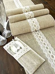 Burlap Lace Table Runner Burlap Lace Picmia