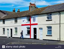 Flag House Inn Terraced House In Fleetwood Lancashire Painted To Resemble The