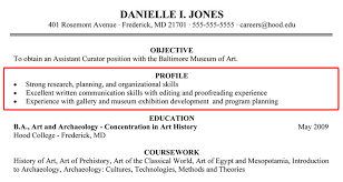 Sample Resume Profile Statement by Writing A Good Resume Profile