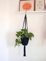 Hanging Planters Indoor by Small Hanging Planter Pink And Green Decor Plant Pot Holder