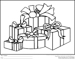 marvelous design christmas present coloring pages cool to print