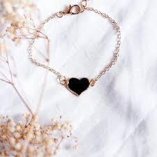 black heart bracelet images Black heart bracelet gold the closet 101 jpeg