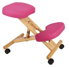Pink Office Chair Teknik Office Kneeling Stool Wood