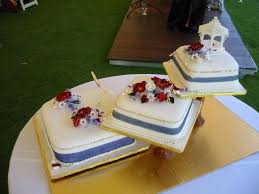one stop wedding royal blue and white wedding cakes