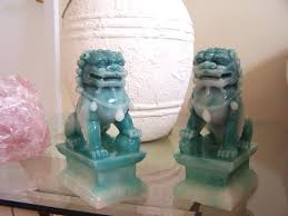 foo dogs for sale resin statues jade color foo dogs large size