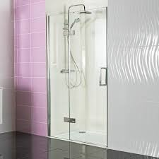 1200mm Shower Door by Decem Hinged Shower Door With Hinged Inline Panel For Alcove