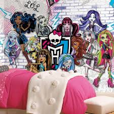 monster high home decor roommates 72 in x 126 in monsters high xl chair rail 7 panel