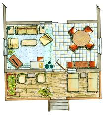 floor plan rendering drawing hand