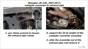 catalytic converter for jeep grand jeep wrangler jk 2007 to present how to replace catalytic