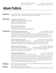 Video Production Resume Samples by Resume Film Production Resume