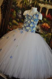 special occasion dress flower dress tutu dress blue dress