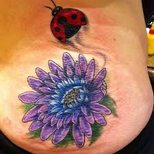 Ladybug And Flower Tattoos - daisy tattoos and designs page 4