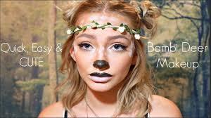 quick easy u0026 cute bambi deer halloween makeup hannah blair