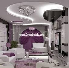 Living Room Ceiling Lights Contemporary Pop False Ceiling Design With Led Lights For Living