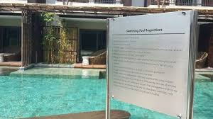 swimming pool rules and regulations signage southern group