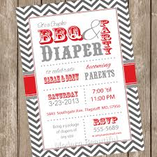 couples bbq and diaper baby shower invitation barbecue red