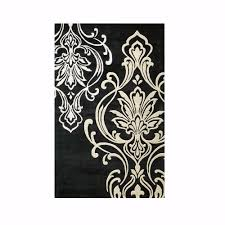 home decorators area rugs home decorators collection romantica black 8 ft x 11 ft area rug