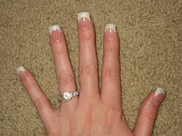 white french tip nail designs glitter french tip acrylic nails