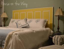 Diy Door Headboard Bedroom Engaging Diy Door Headboard Diy Pinterest Photo Of