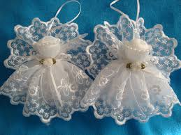 white lace angels handmade tree ornament decoration gift by