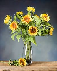 silk sunflowers sunflower silk flower stems for arranging at petals