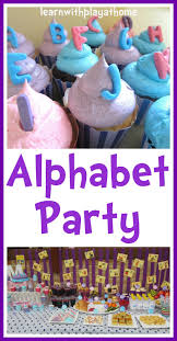 learn to decorate cakes at home learn with play at home alphabet party