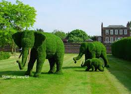 outdoor decoration artificial topiary animal for park decoration