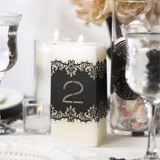 Wedding Table Numbers Ideas Wedding Table Number Wraps Black Laser Cut