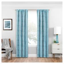 Target Turquoise Curtains by Eclipse Naya Thermaweave Blackout Curtain Panel