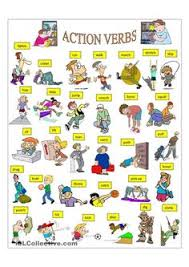 action verbs learning action words grammar learning basic