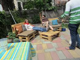Pallet Cushions by Furniture Brown Wooden Pallet Outdoor Couch Whit Backrest And