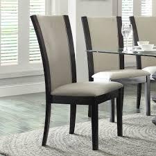 7 piece glass dining room set homelegance havre 7 piece glass top dining room set w beige